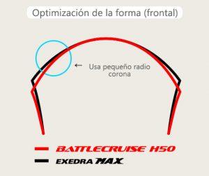 optimizacion de radio corona llanta bridgestone H50
